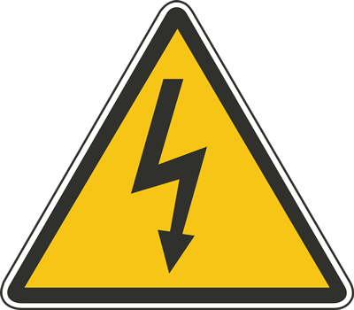 Señal alto voltaje evitar cortocircuitos