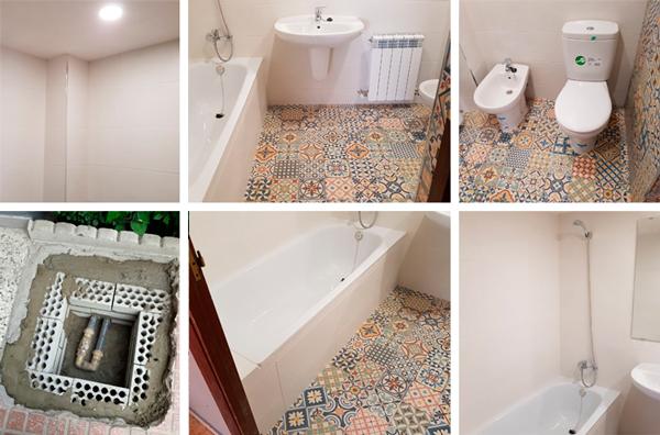 Reforma de baño Tubo-Plástica